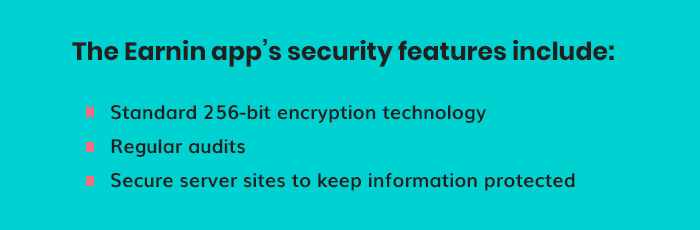 Earnin app's security features