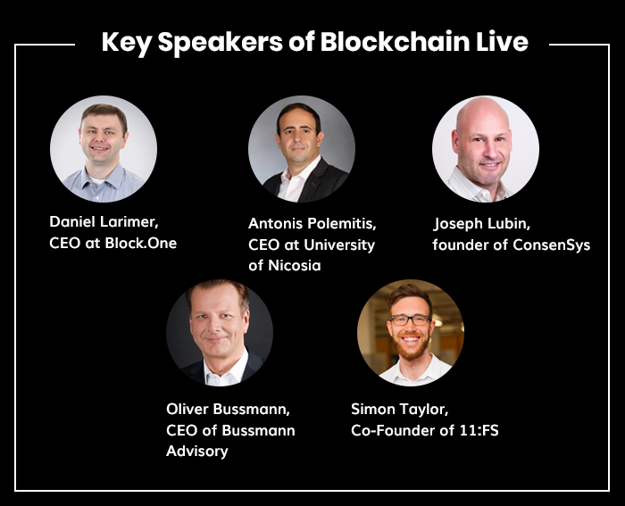 Blockchain live speakers