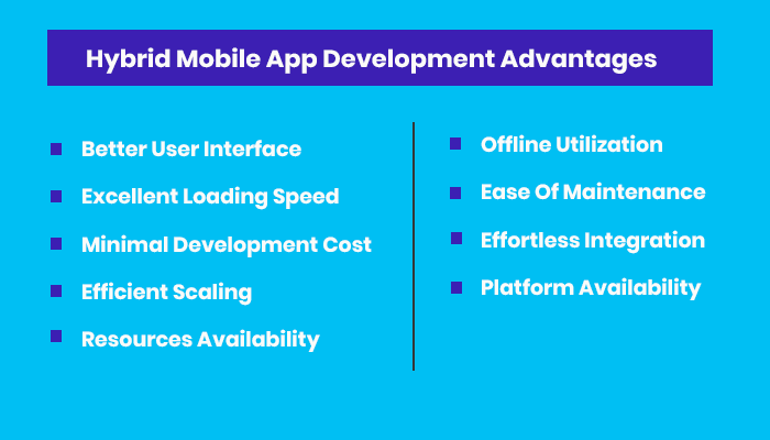 Hybrid Mobile App Development Advantages