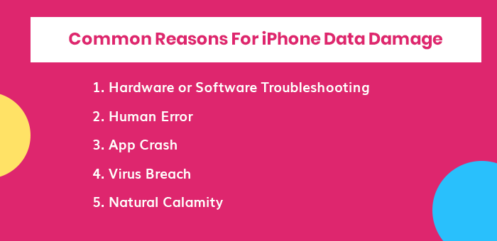Reasons For iPhone Data Damage