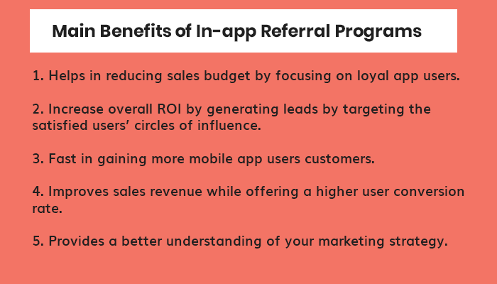 Main Benefits of In-app Referral Programs