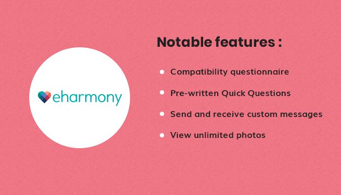 features of eHarmony