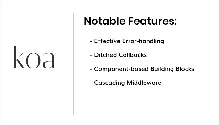 Features of Koa.js