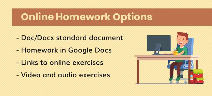 Online Homework Options