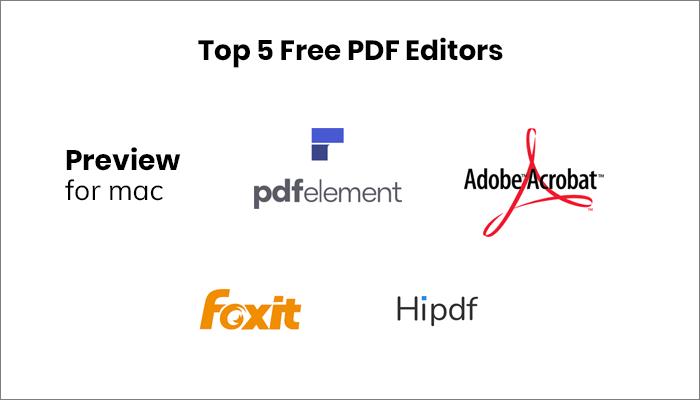 5 Best Free PDF Editors