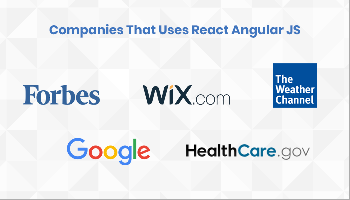 Companies that uses React Angular JS