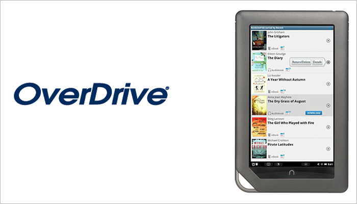 OverDrive audiobook app