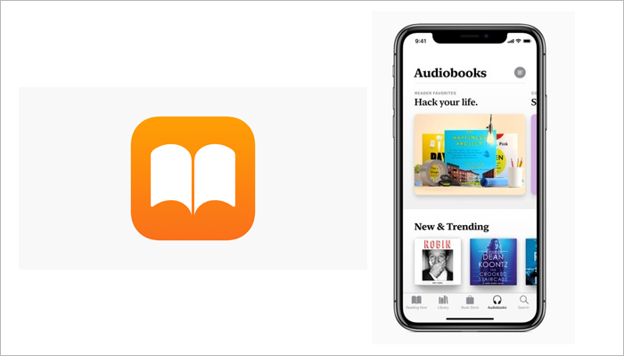 Apple Books audiobook app