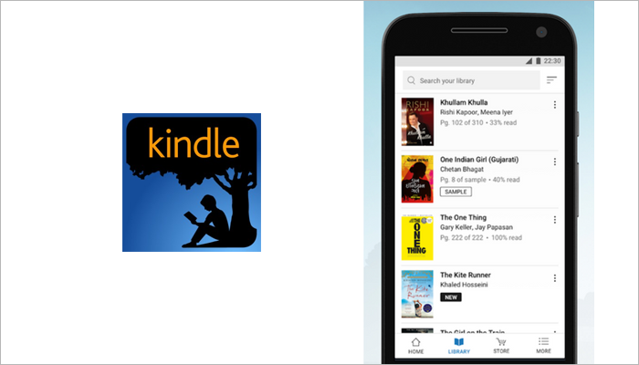Amazon Kindle audiobook app