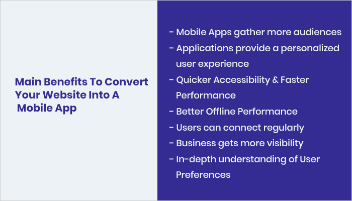Main Benefits To Convert Your Website Into A Mobile App