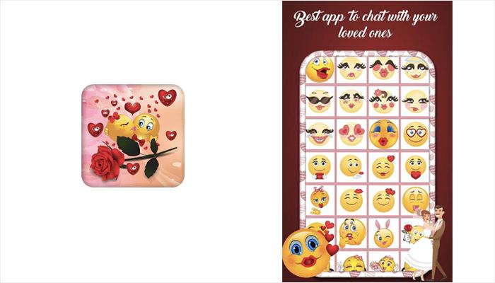 Valentine Love Emojis - Mobile App