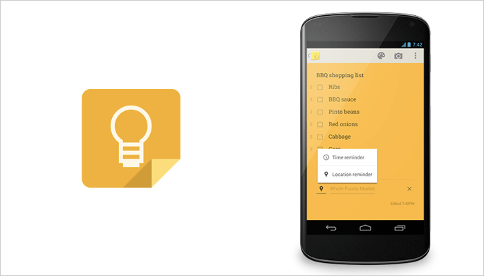 Google Keep - Note taking app