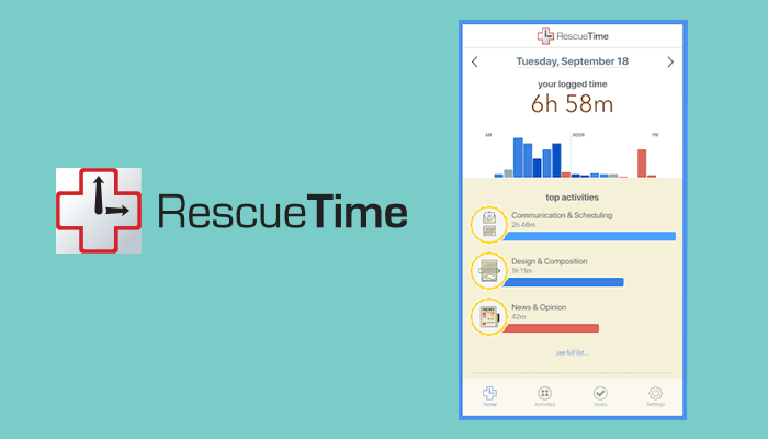 Rescue time - Apps For Freelancers