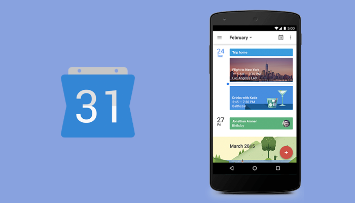 Google calendar - Life-hacking app