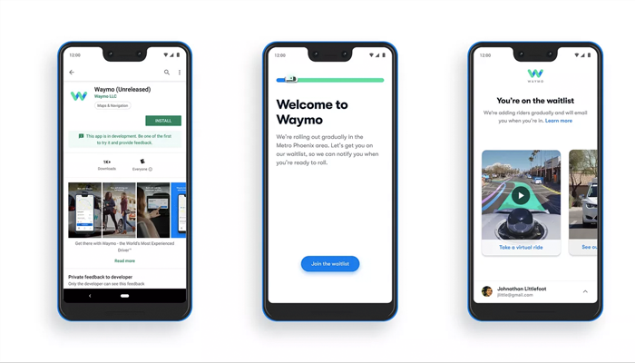 Waymo App Launched For Booking Self Driving Car Taxi