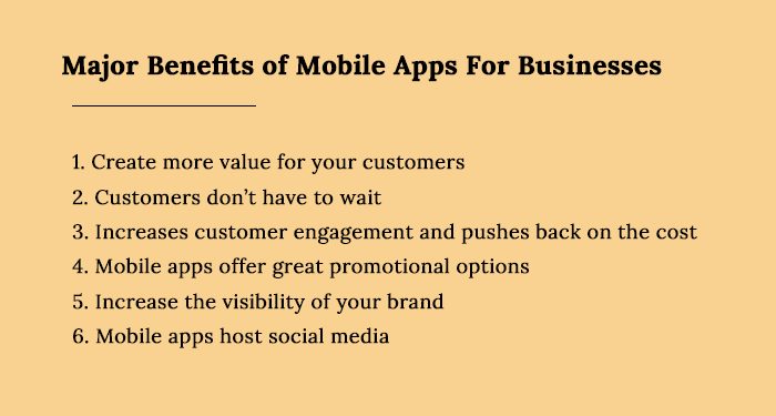 Benefit of Mobile App
