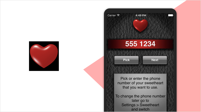 Call Sweetheart - long distance touch app
