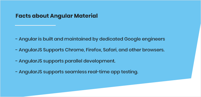 Facts about Angular Material