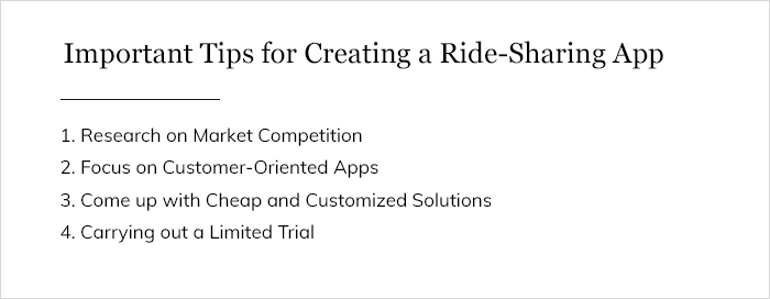 Important Tips for Creating a Ride-Sharing App