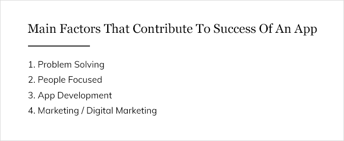 Main Factors That Contribute To Success Of An App