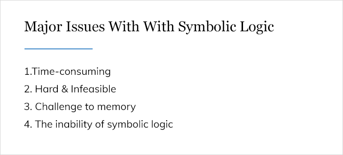 Major Issues With With Symbolic Logic