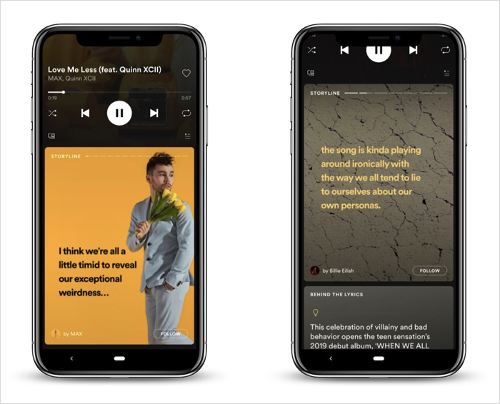 Spotify Storyline feature