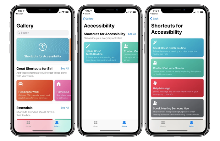 Accessibility-focused collection of new Siri Shortcuts