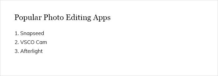 Popular Photo Editing Apps