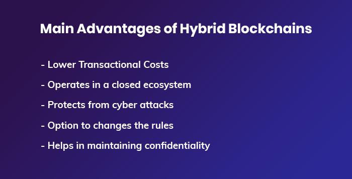 Main Advantages of Hybrid Blockchains