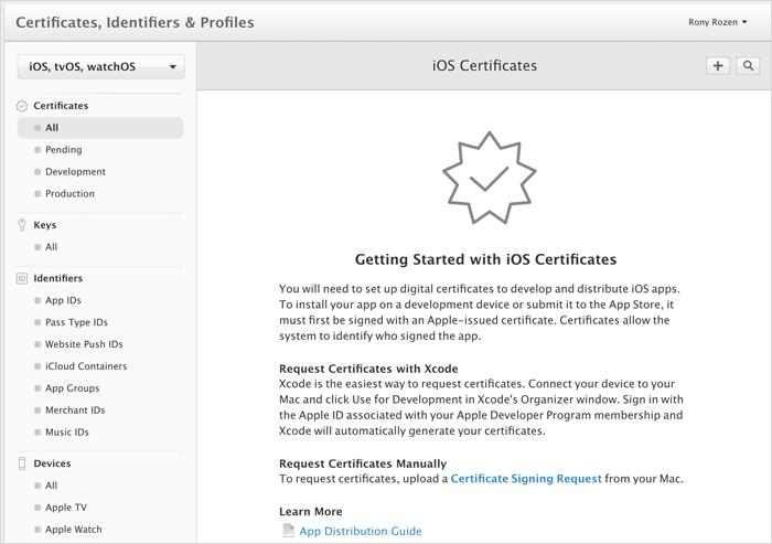 Initiate A Certificate Signing Request