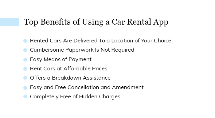 Top Benefits of Using a Car Rental App