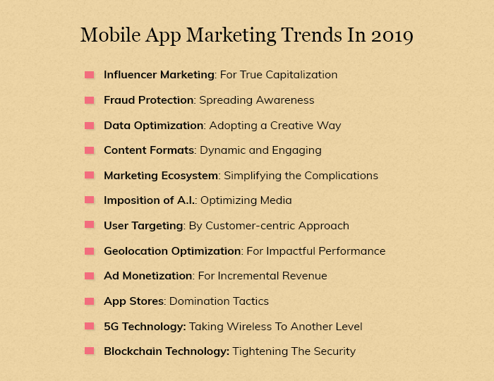 Mobile App Marketing Trends In 2019