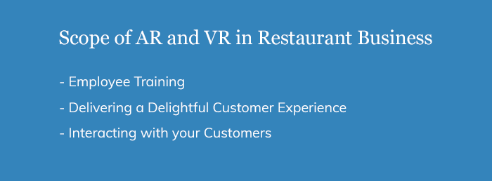 Scope of AR and VR in Restaurant Business