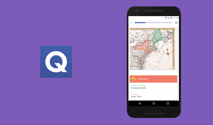 Quizlet app focuses on definitions and explanation