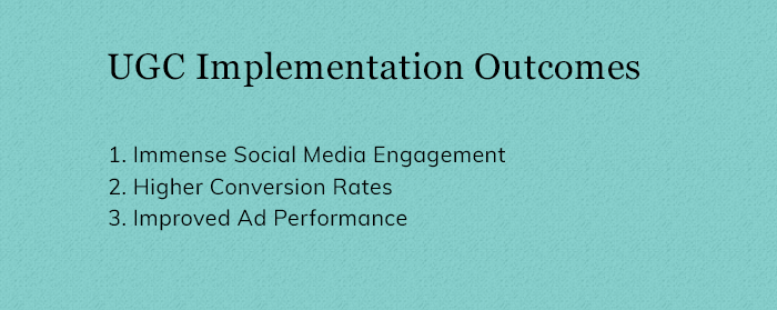UGC Implementation Outcomes