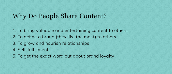 Why Do People Share Content