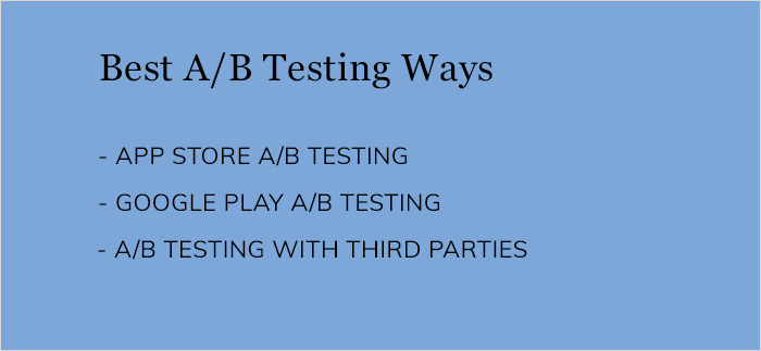 different types of A/B testing ways