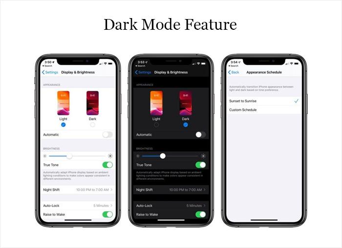 iOS Dark Mode Feature