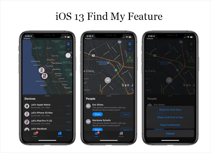 iOS 13 Find My Feature