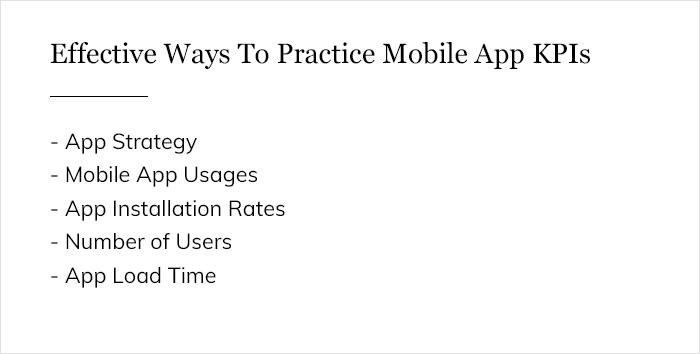 Effective Ways To Practice Mobile App KPIs