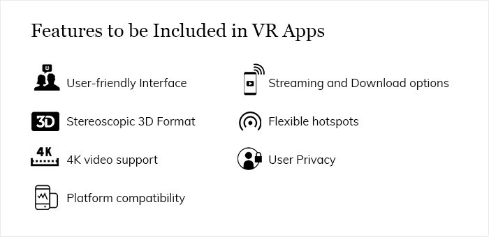 Essential Features to Include in VR Apps