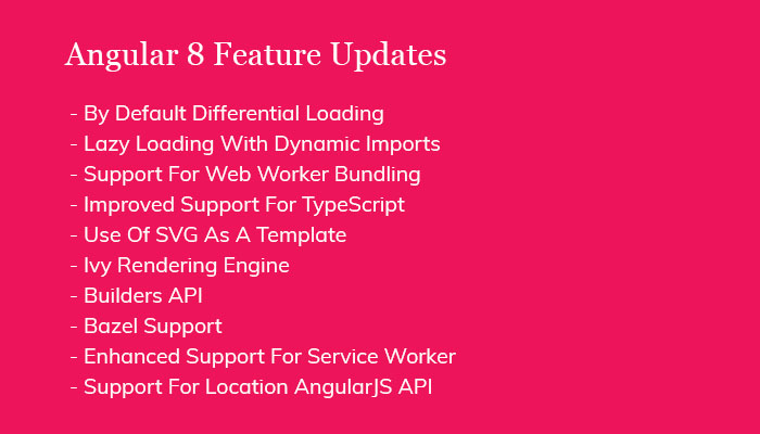 Angular 8 Feature Updates