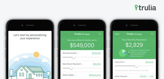 Trulia - real estate app
