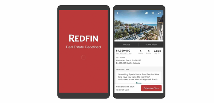 Redfin - real estate app