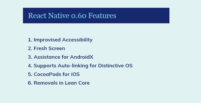 React Native 0.60 ویژگی ها