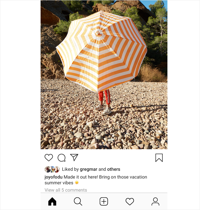 Instagram's new feature testing.