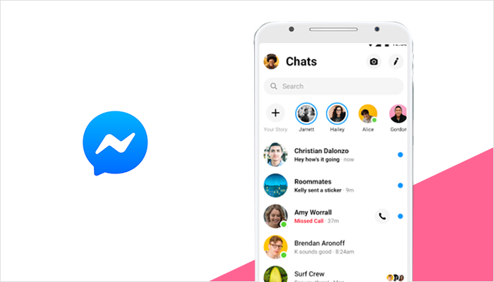 Facebook Messenger- best messaging app