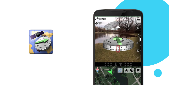 AR GPS Compass Map 3D