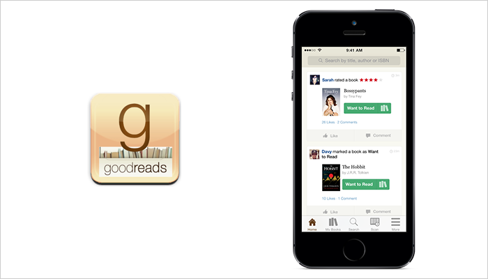 iOS learning app on this list is Goodreads