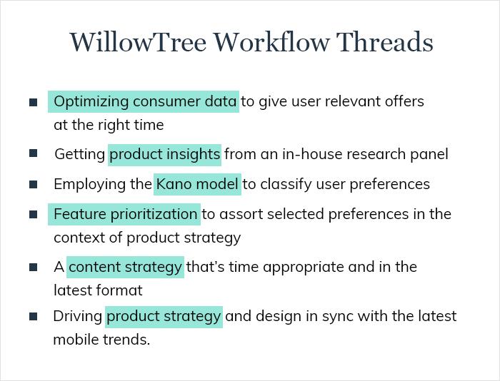 WilloTree work Flow